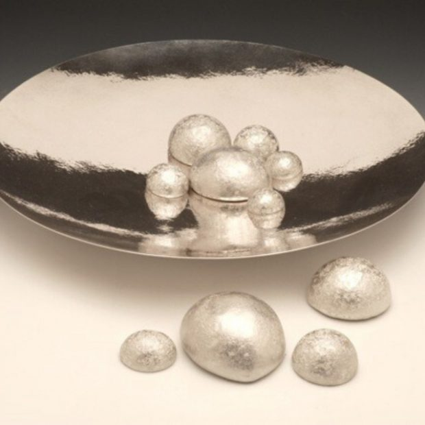 Pebbles in pool dish